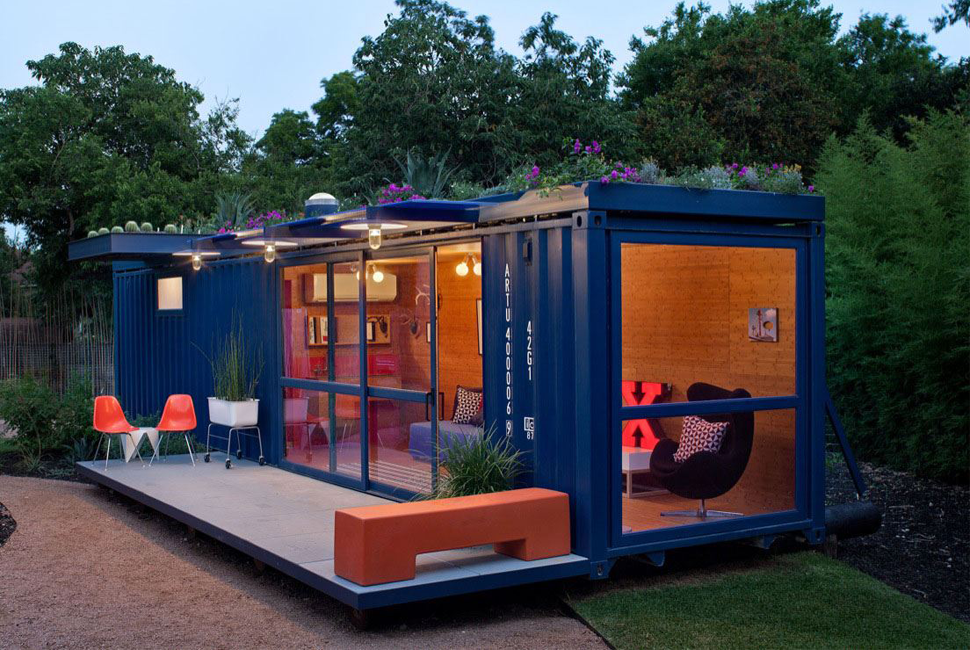 Freight Container House think inside the box with these tricked-out shipping container