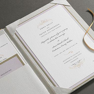 Ireland Luxury Thai Silk Wedding Folio Invitations