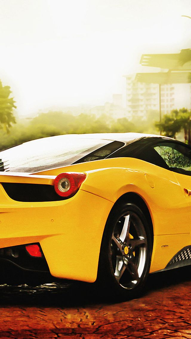 Ferrari 458 Spider Yellow Iphone 5s Wallpaper New Car Wallpaper Sports Car Wallpaper Car Wallpaper For Mobile
