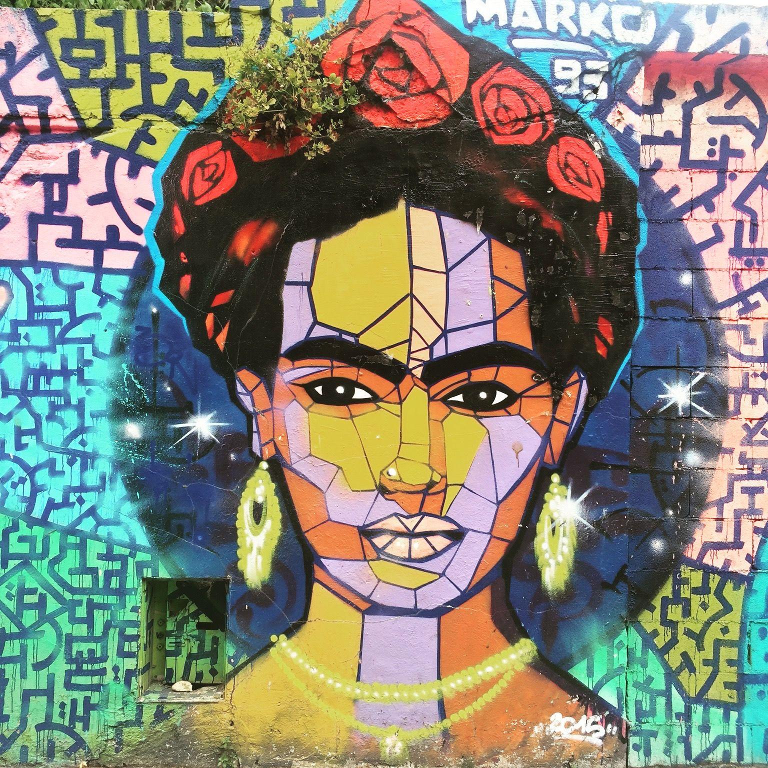 """""""No estoy enferma! estoy rota, pero estoy feliz de estar viva mientras pueda pintar"""" #fridakahlo by @marko93darkvapor #marko93 #darkvapor #parrot #monkey #streetart #graffiti #graff #spray #bombing #wall #instagraff #streetartist #urbanart #urbanartist  #streetartparis #parisgraffiti #graffitiwall #wallporn #wallpornart #streetarteverywhere #streetphoto #streetartandgraffiti #urbanwalls #graffart  Rue de l'Ourq #paris"""