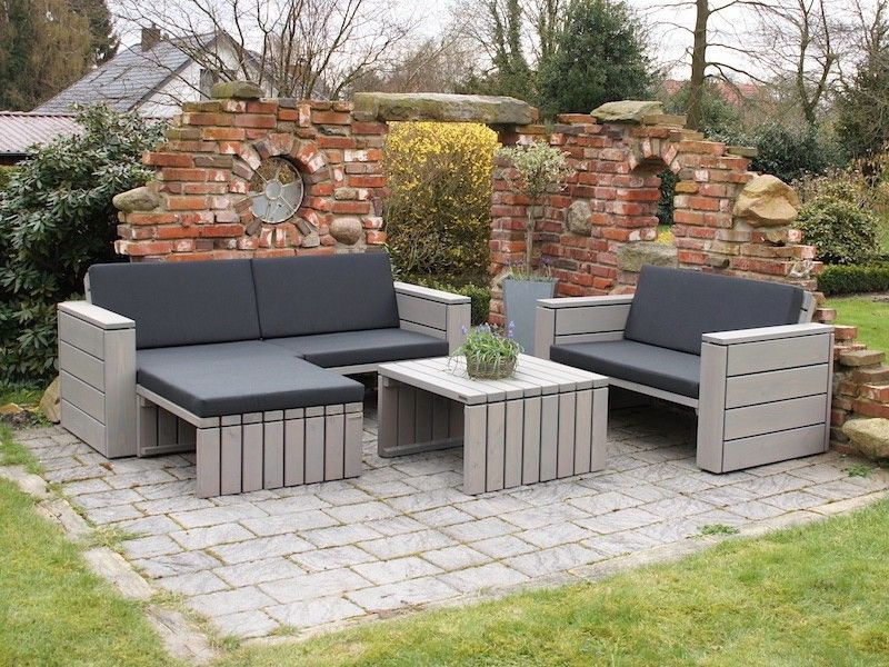 Loungemöbel Set loungemöbel set 7 loungemöbel aus holz