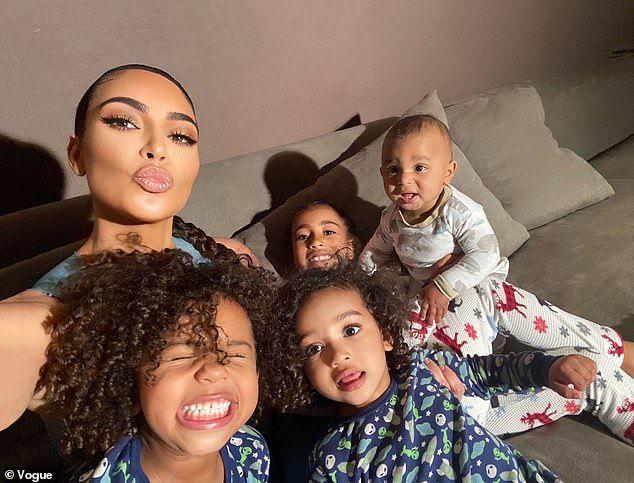 Kim Kardashian shares a fun photo of son Saint