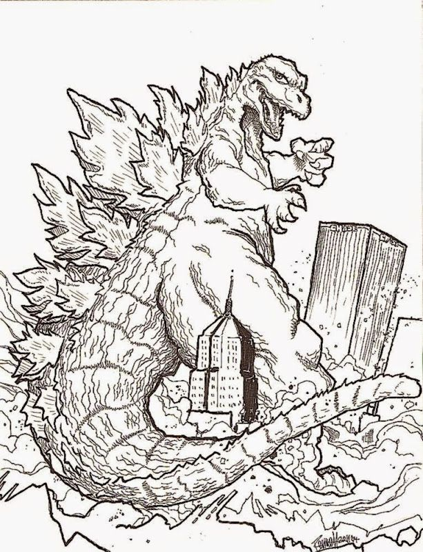 Godzilla Printable Coloring Pages Godzilla Coloring Sheets Free