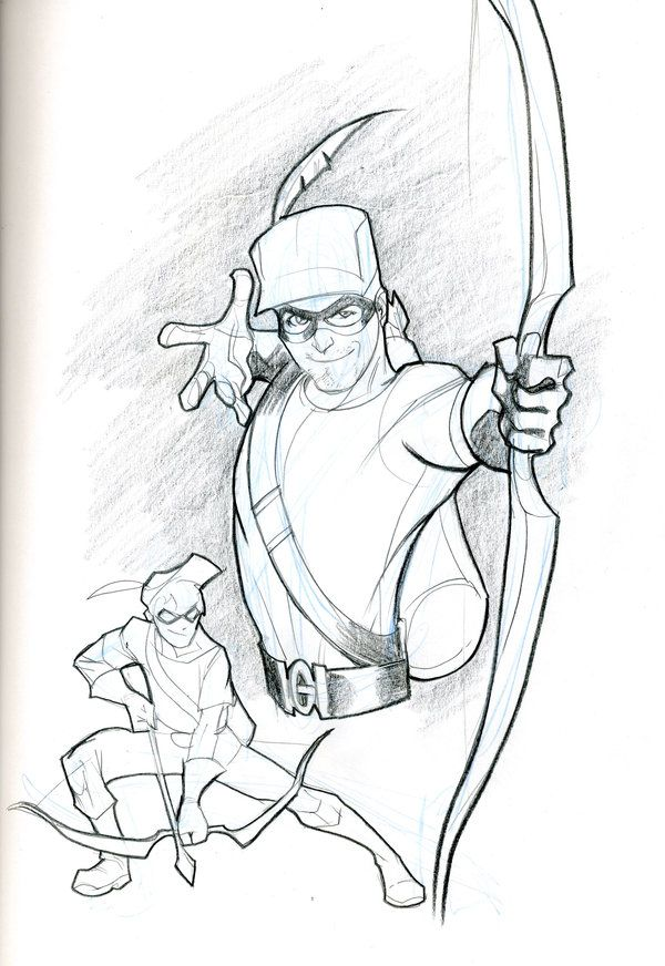 Green Arrow And Speedy By Guinnessyde Green Arrow Character Design Red Arrow