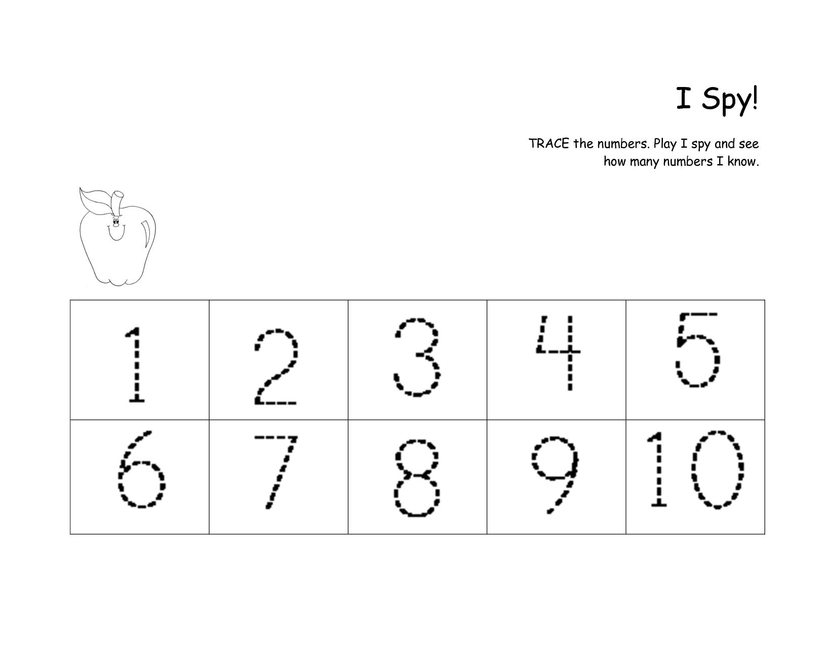 preschool worksheets numbers 1 10 1 fine motor skills