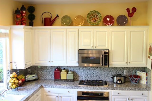 Top Of Cupboard Decor Pin For Pinterest Comfy Home Above Kitchen Cabinets Decorating On A Budget