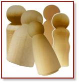 Wood Little People Shapes and Game Pieces