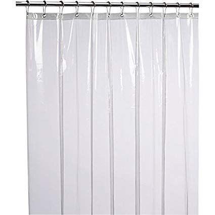 Amazon Com Liba Mildew Resistant Anti Bacterial Peva 8g Shower Curtain Liner 72x72 Clear Cool Shower Curtains Plastic Shower Curtain Vinyl Shower Curtains