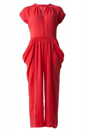 NUDE red zip-detailed Jumpsuit