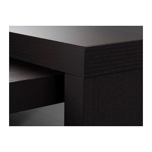 Malm Desk With Pull Out Panel Black Brown Tims Room Malm