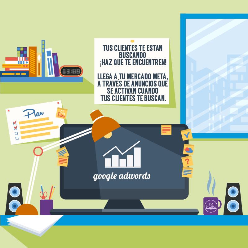 Tus clientes te estan buscando ¡Haz que te encuentren! Llega a tu mercado meta, a través de anuncios que se activan cuando tus clientes te buscan.  Administramos campañas de #GoogleAdwords ¿Te interesa contratar nuestros servicios? contacto@viadigital389.com