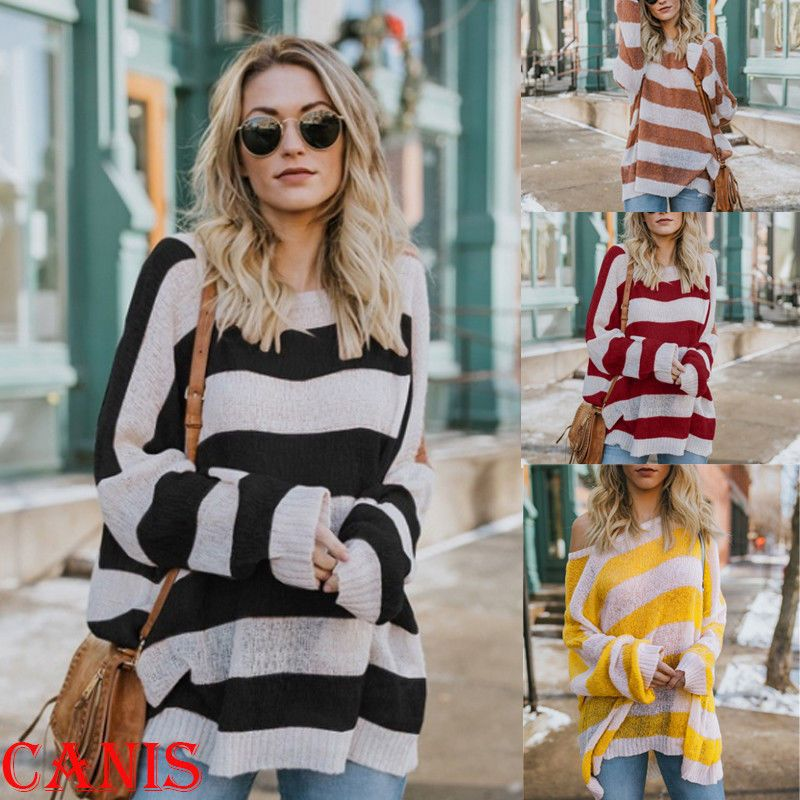 179dd97739a75 Oversize Women Off Shoulder Batwing Sleeve Knit Sweater Tops Pullover  Outwear US  fashion  clothing  shoes  accessories  womensclothing  tops  (ebay link)