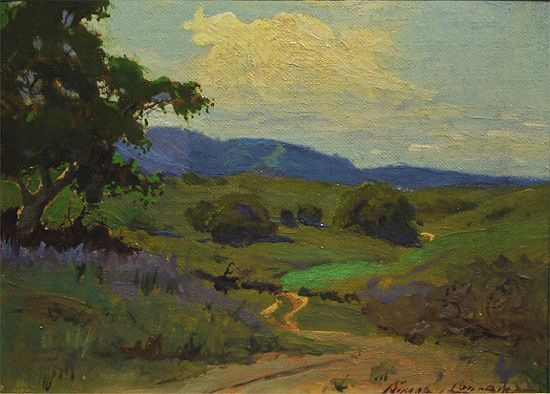 Encino, Southern California, 1934 By Sydney Laurence by  Tierney Fine Art Oil on Canvas ~ 6 x 8