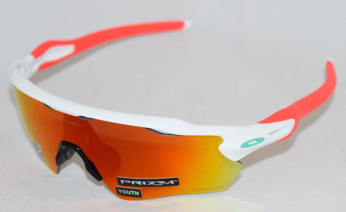 49fe762f4f256 NEW OAKLEY RADAR EV XS PATH OJ9001-1131 YOUTH FIT WHITE  PRIZM RUBY LENS  (eBay Link)