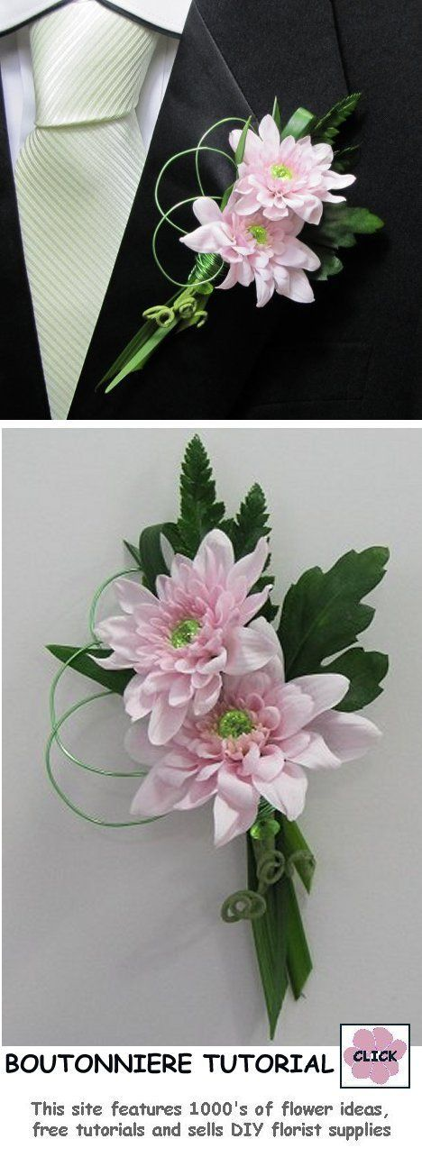Free Tutorials Http Www Wedding Flowers And Reception Ideas Make Your Own Html Boutonniere Easy Step By P