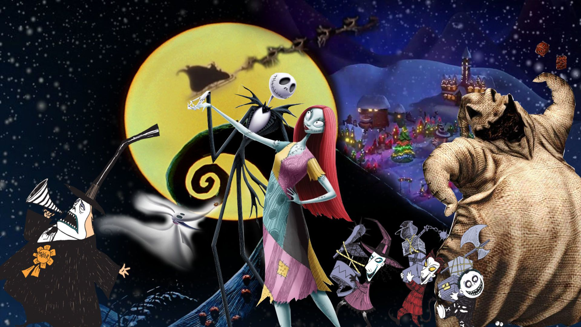 1920x1080 The Nightmare Before Christmas Wallpaper By The Nightmare Before Christmas Wallpaper Nightmare Before Christmas Tattoo Nightmare Before Christmas