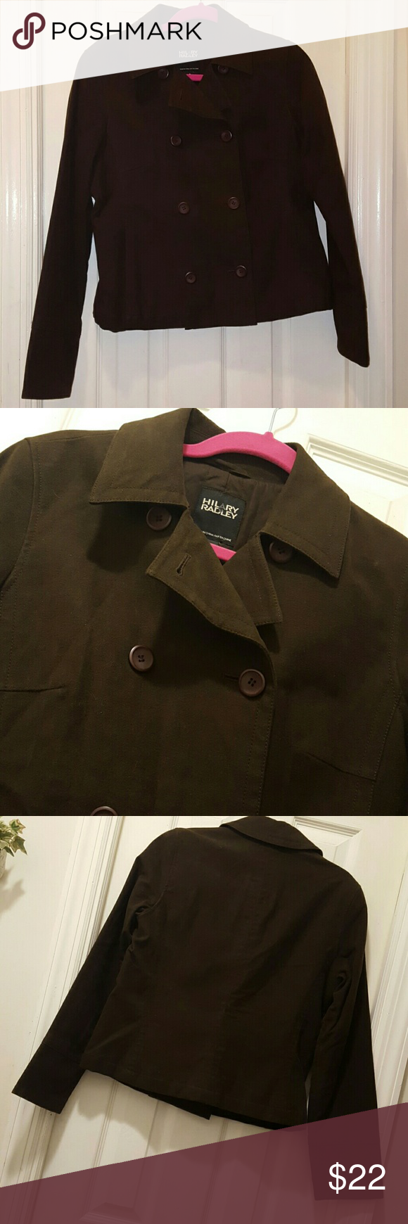 Hilary Radley blazer jacket Suede like feel. Very good condition. Quilted cotton lining. Hilary Radley Jackets & Coats