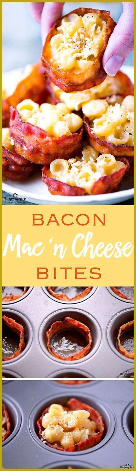 This Bacon Mac and Cheese Cups recipe is a cheesy appetizer that everyone will l… appetierz party