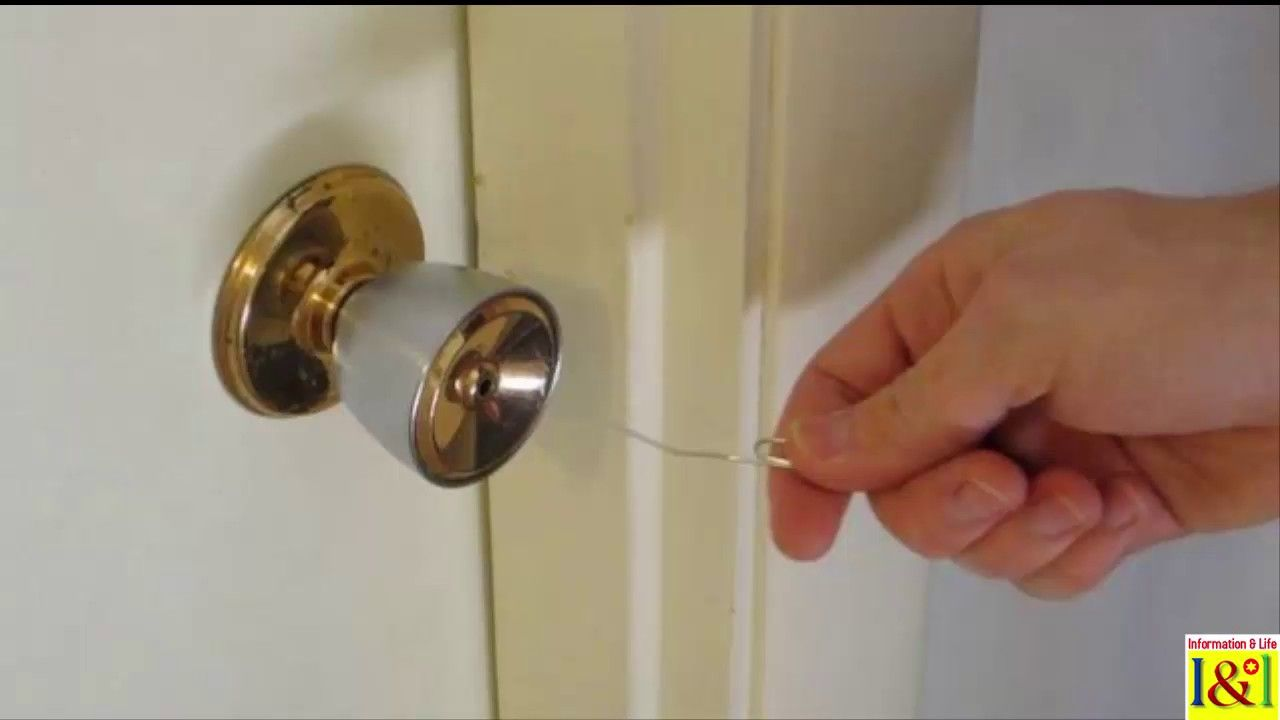 How to open a locked interior door when youve lost the