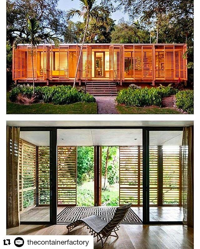 #Repost @thecontainerfactory with @repostapp  Love the fusion between nature and style! Want to build your own container hotel? Now you can! Send in your enquiries now to http://ift.tt/2kLCJVT! Realize your dreams today! #Repost @tinyhousemag with @repostapp  Brillhart Retreat #Miami #Florida by Brillhart Architecture - More images @bookofcabins #interiors #interiordesign #architecture #decoration #interior #home #design #camper #bookofcabins #homedecor #decoration #decor #prefab #diy…