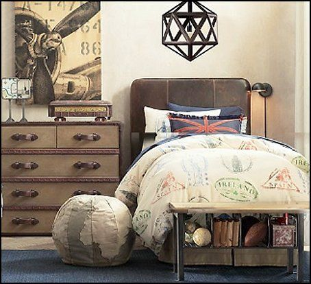 boys vintage transportation themed bedrooms | boys+travel+ ...
