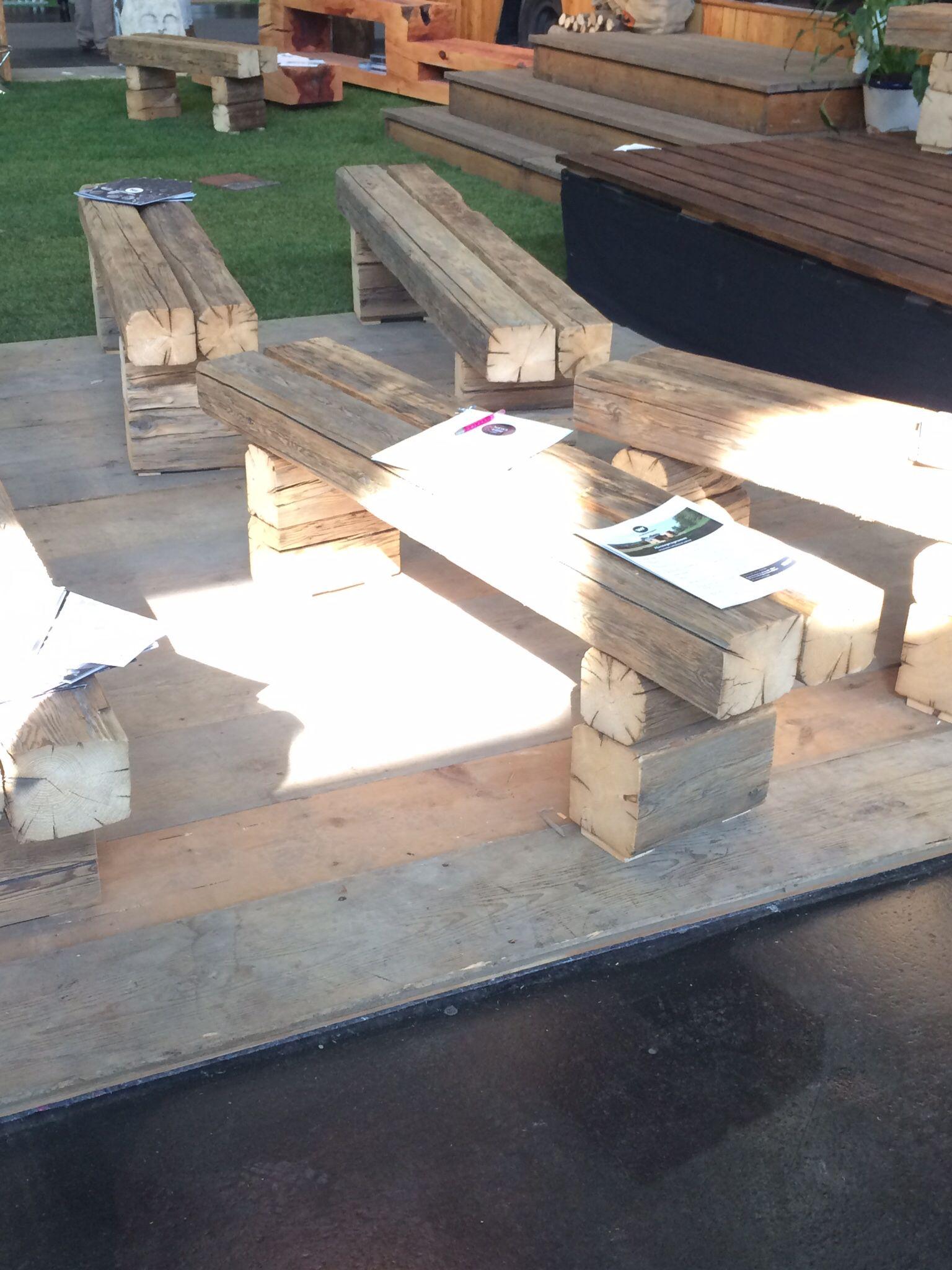 Holzbank Selbstgebaute