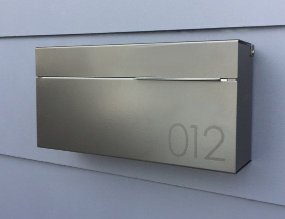 Black Modern and contemporary mailbox LOUIS B, Modern ...