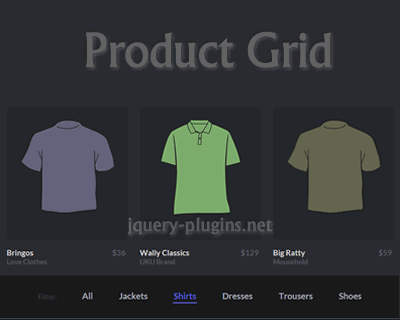 Filterable Product Grid #gallery #filter #responsive