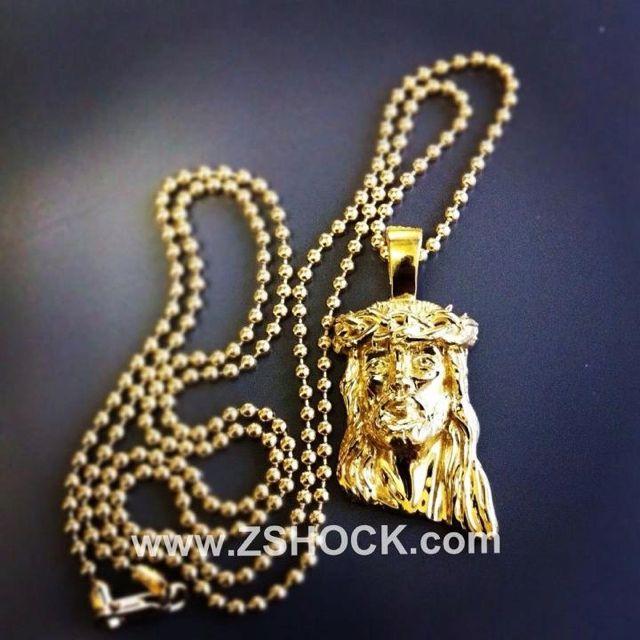 8b8d747ca1c63 Gold Mini Jesus Piece Pendant | ZShock Mini Jesus Piece Pendants ...