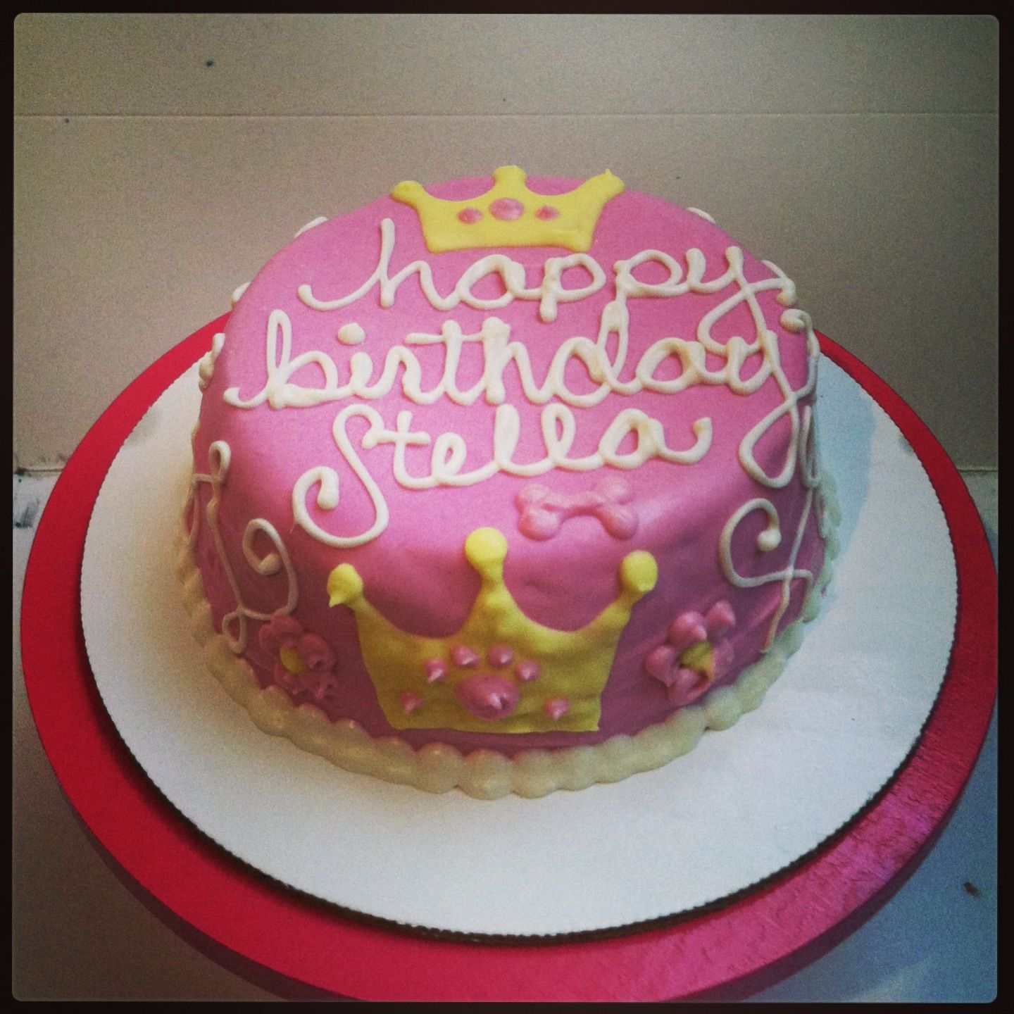 A Sweet Princess Dog Cake We Made For Stella In NYC
