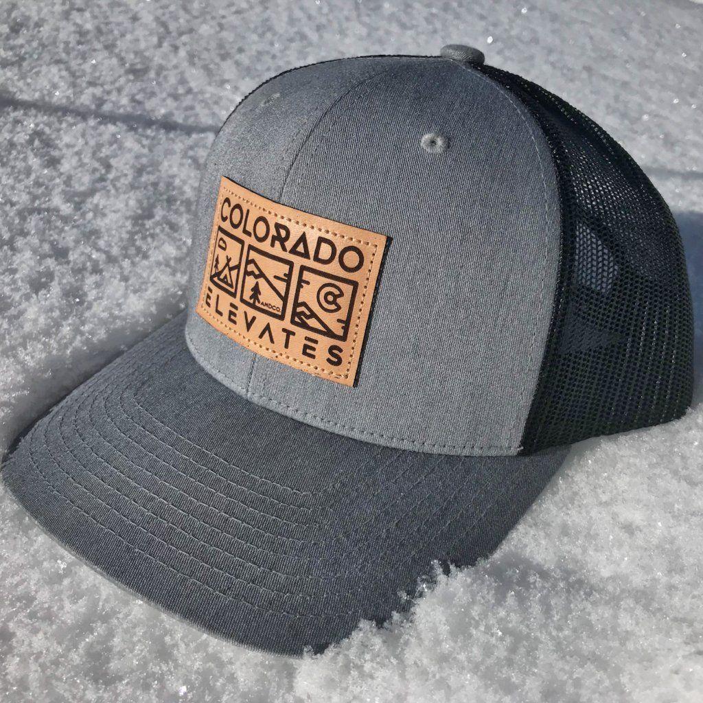 74c98bdc7 Colorado Elevates - Leather Patch Trucker Hat | Hat ideas | Hats ...