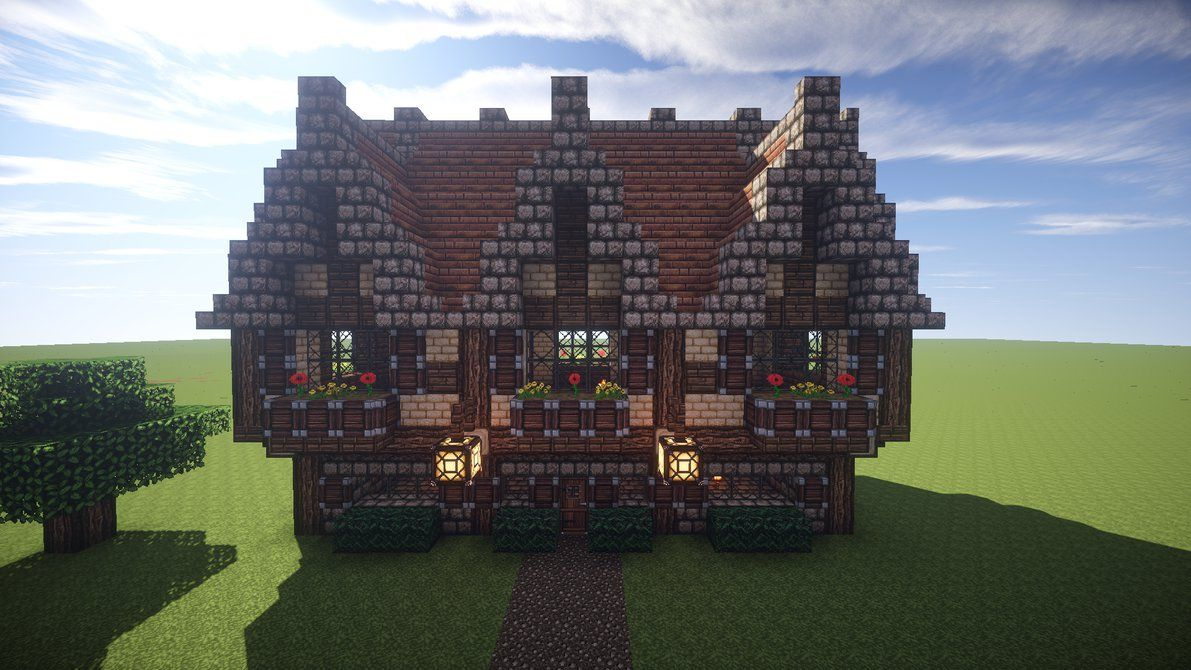 Playing around with building styles Texture pack is John Smith