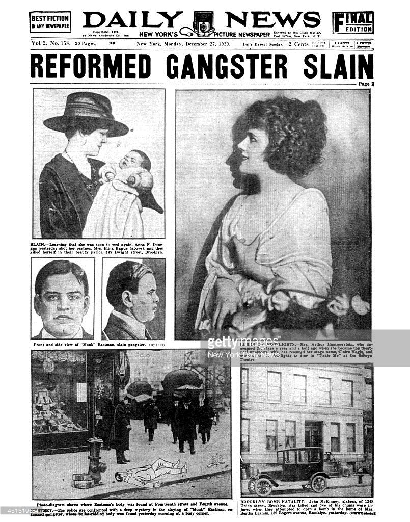 daily news front page december 27 1920 headline reformed