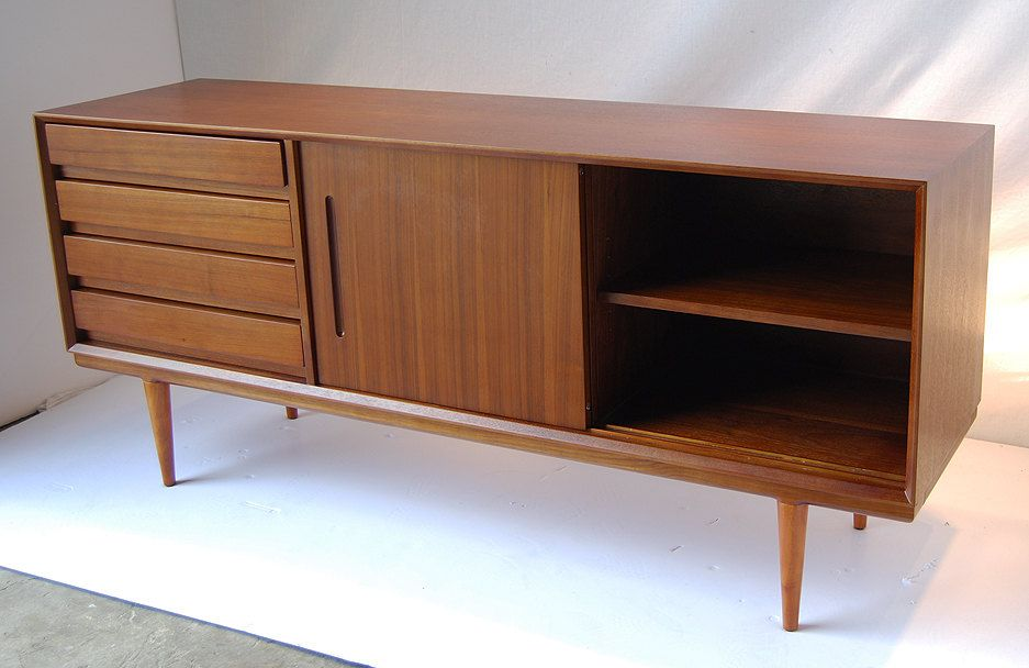Danish Style Credenza : Vintage mid century mcintosh danish style teak sideboard credenza