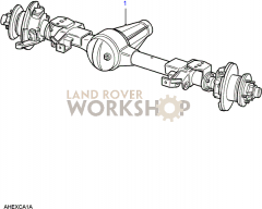 Front Axle Assembly Part Diagram Axle Diagram Land Rover