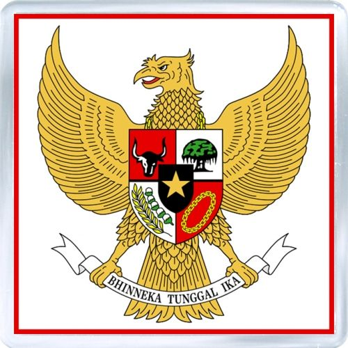 Acrylic Fridge Magnet 3a Indonesia Coat Of Arms Of Indonesia