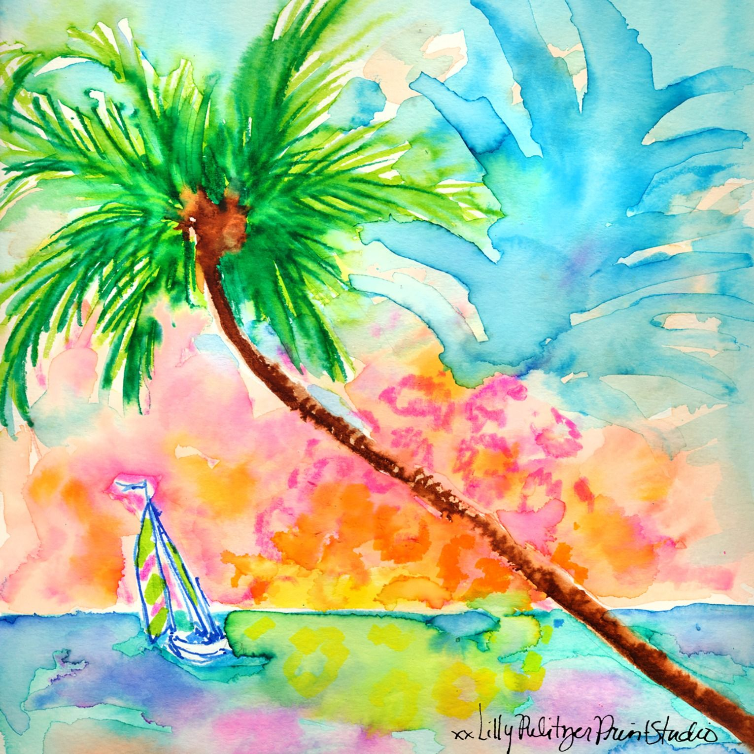 Sailing Into The Sunset Lilly 5x5 Pinterest Lily