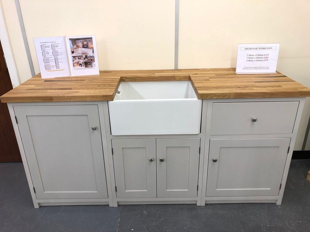Solid Pine Kitchen With Belfast Sink Solid Oak Worktops Pine Kitchen Cabinets Pine Kitchen Painting Kitchen Cabinets