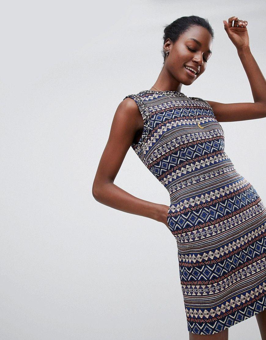 Deby Debo - Iliana - Gemustertes Kleid - Beige Jetzt bestellen unter   https   fc3955c949