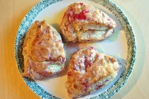 raspberry scones with orange glaze and other prepped breakfast ideas.