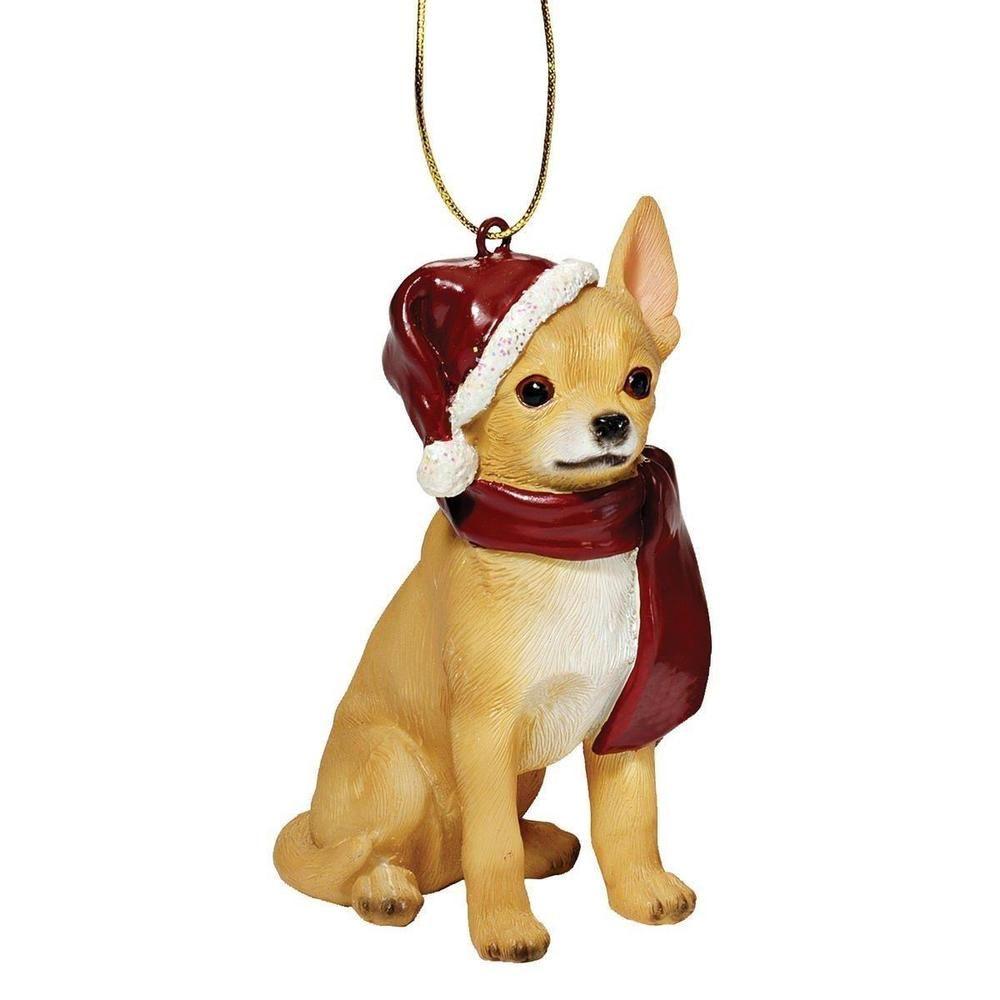 Chihuahua Dog Christmas Ornament Sculpture Xmas Tree Ornaments ...