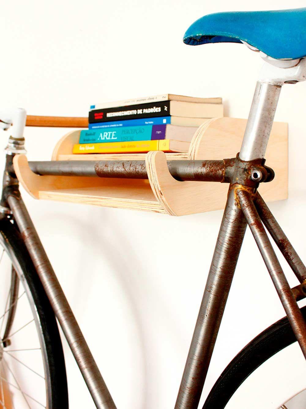 1307d90d6 suporte de bicicleta de parede bike   books por carpintaria brasileira