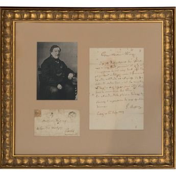Gioachino Rossini Signed Letter With Photograph. Met Opera Shop $7,125