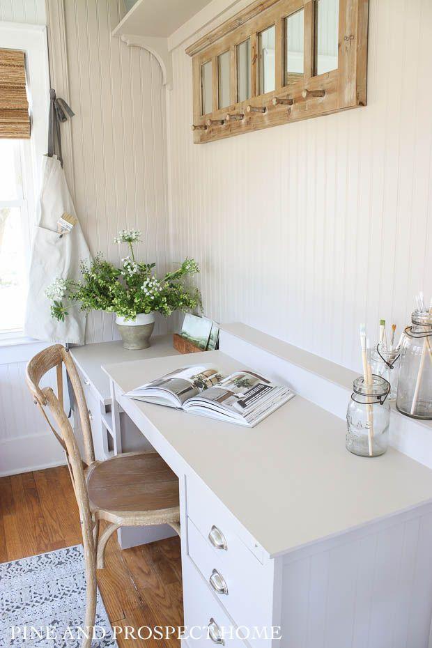 DIY Desk Built-in for Under $50 - Pine and Prospect Home ...