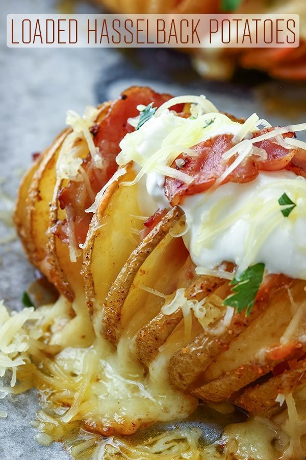 Photo of Loaded Hasselback Potatoes – Happy Foods Tube