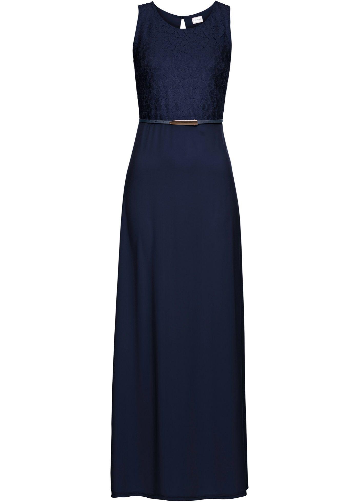 abendkleid mit gürtel dunkelblau jetzt im online shop von