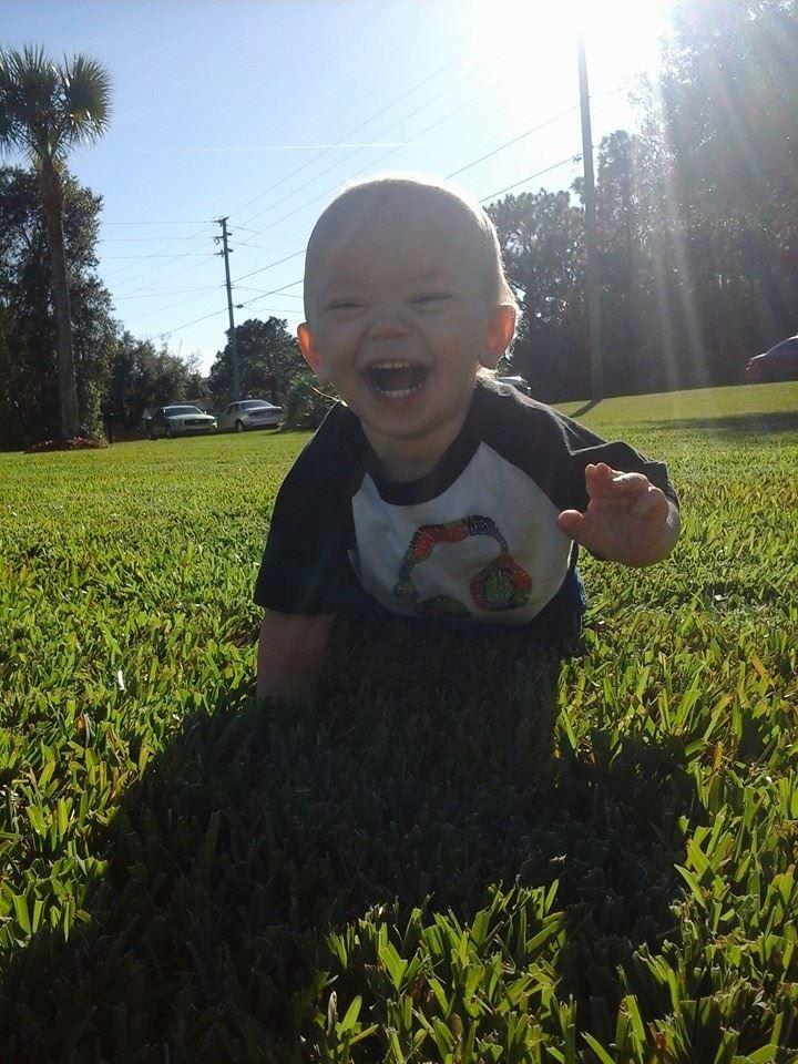 My happy little baby boy <3