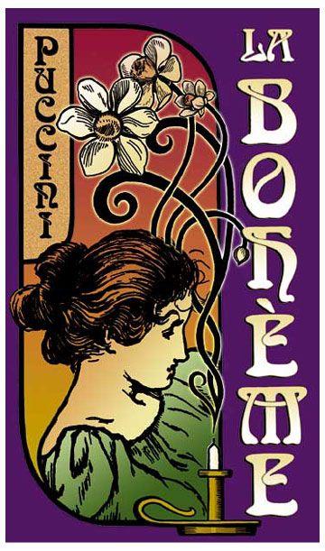 Image result for la boheme opera clipart