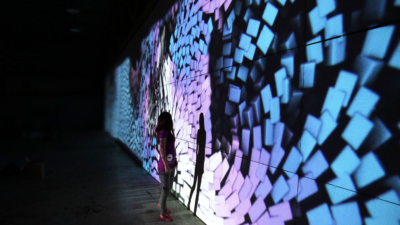 Wall of Wonders - motion design art installation on Behance