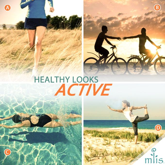 A,B,C, or D- What's your favorite activity? Regular exercise is essential to being healthy!